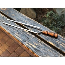 Вилка нерж. с деревянной ручкой 12 х 60 см.